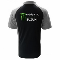 POLO SUZUKI MONSTER  NOIR ET GRIS
