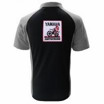 POLO YAMAHA MOTOCROSS  NOIR ET GRIS