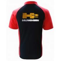 POLO HUMMER H2 NOIR ET ROUGE