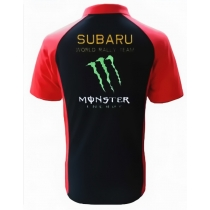 POLO SUBARU MONSTER RACING NOIR ET ROUGE
