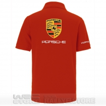 POLO PORSCHE DE COULEUR ROUGE