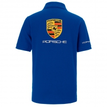 POLO PORSCHE DE COULEUR BLEU ROYAL